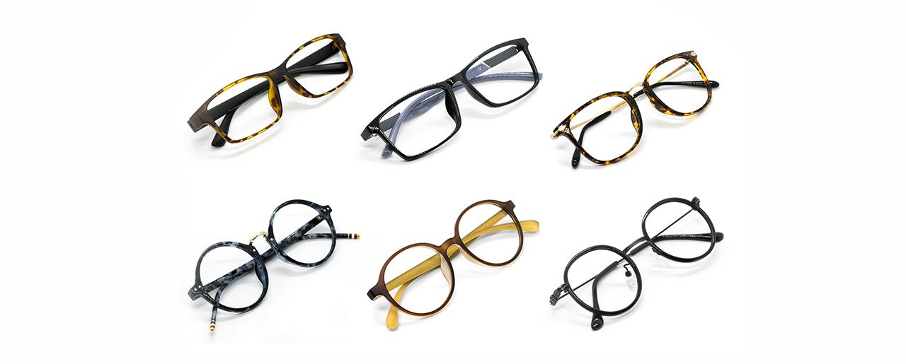 sechs Brillen